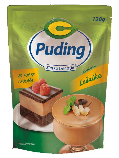 Puding za torte sa ukusom lešnika