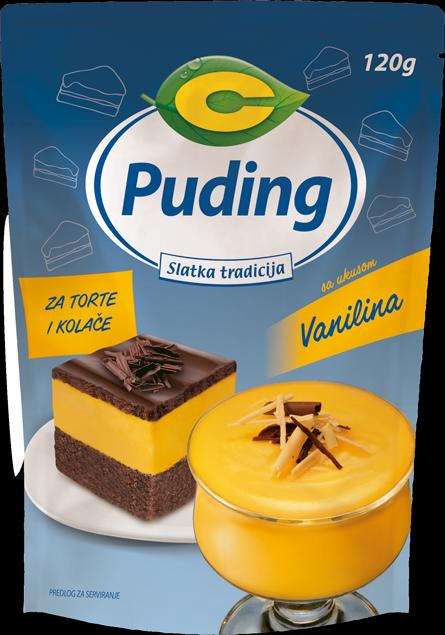 Puding za torte i kolače sa ukusom vanilina