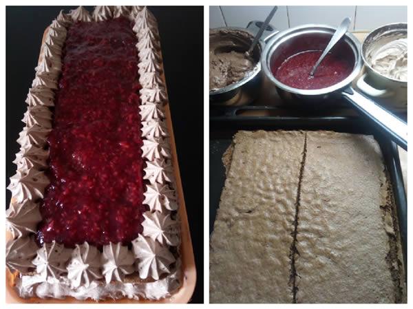 Čoko torta sa malinama