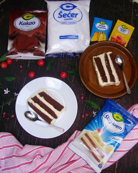 Čoko-vanila torta
