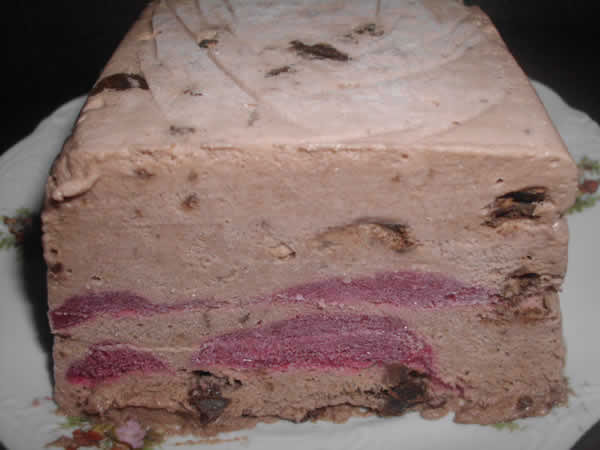 Ledeni desert sa sladoledom od čokolade