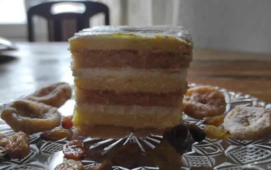 Posna ananas torta