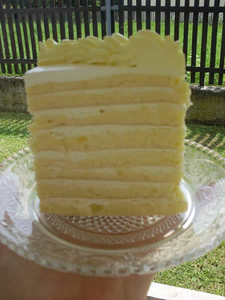 Posna bela torta