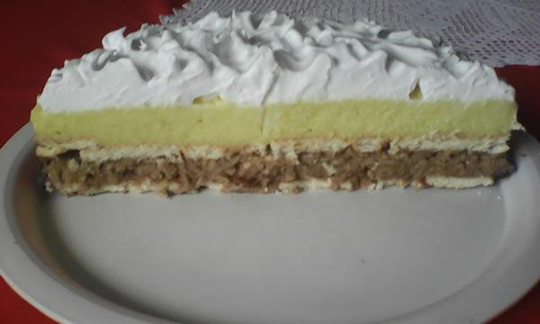 Posna torta sa keksom i jabukama