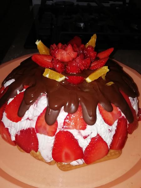 Sladoled jagoda torta