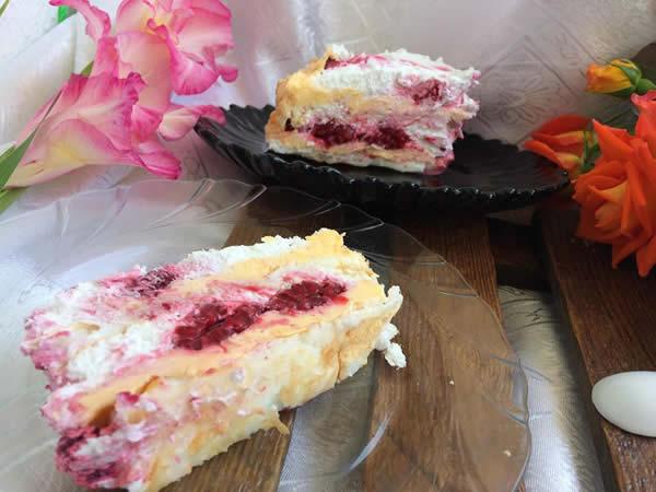 Šuškava torta sa malinama