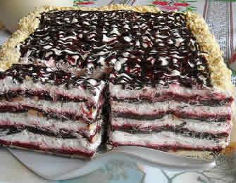 Posna torta sa malinama i čokoladom